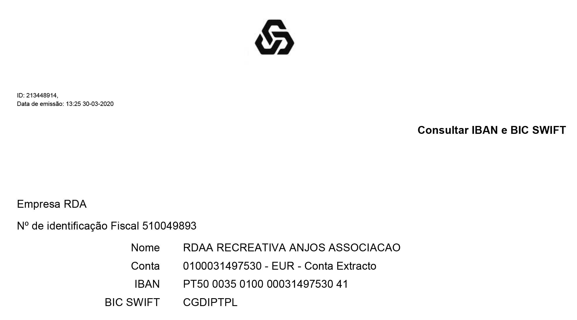 IBAN RDA69: PT50 0035 0100 0003 1497 5304 1